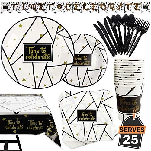 Kompanion Set 177 Piezas Fiesta Color Negro