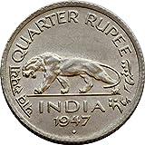 #5: quarter rupee 1947 rare coin-collection item-old coin