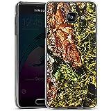 Samsung Galaxy A3 (2016) Housse Étui Protection Coque Écorce Bois Marais marécage mousse
