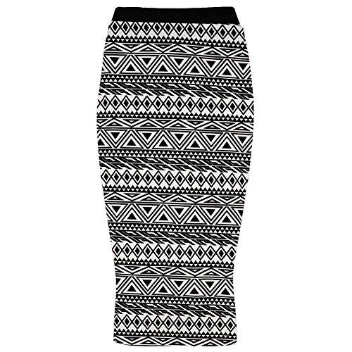 Generic - Jupe - Crayon - Femme Multicolore Bigarré Taille Unique Small Aztec