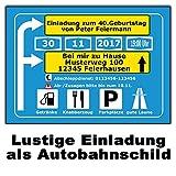 Originelle Einladungskarten zum Geburtstag als Autobahnschild 30 Stück Einladung originell