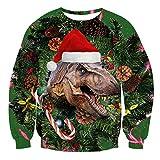 Idgreatim Herren Fashion Grafik Weihnachtsmann Bikini Langarm Hässlich Weihnachten Gestrickte Sweatshirts Rot L