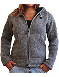 veste en laine, manteau laine, manteau chaud, veste hiver femme de virblatt en taille S, M, L sweat à capuche, 100% laine naturelle Selbstverständlich