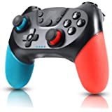 Zexrow Controller per Nintendo Switch, Wireless Bluetooth Switch Pro Controller, Switch Joystick Gamepad con Turbo Regolabile