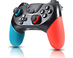 Zexrow Manette pour Switch, Bluetooth Manette Switch Pro, Switch controller avec Batterie Rechargeable/Turbo/6-Axis Gyro/Doub