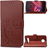 Motorola Moto Z2 Play Wallet Case, Danallc Motorola Moto Z2 Play Flip Case, Classy Slim Leather Wallet, ID Credit Card Slot Holder For Motorola Moto Z2 Play - Brown