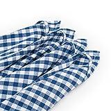 FILU Geschirrhandtücher 4 Stück (100% Baumwolle) Dunkelblau/Weiß kariert 45 x 70 cm (Farbe und Design wählbar); hochwertig gefertigte Küchenhandtücher/Geschirrtücher im skandinavischen Landhaus-Stil