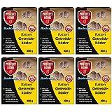 SBM Protect Home GARDOPIA Sparpaket: 6 x 400g Rodicum Ratten Getreideköder + Gardopia Zeckenzange mit Lupe