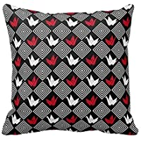 Personalized Throw Pillowcase 18 x 18 Japanese Origami Cranes Pattern (Orizuru) Throw Pillow Cover