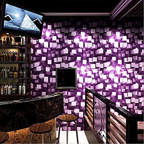 Fushoulu Moderne3D Stereoskopischen Gitter Innendekor Wandpapierrollen Ktv Bar Wohnzimmer Hintergrund Tapeten WandbilderC-280X200Cm