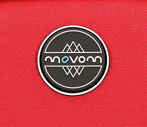 61PIYfNmhHL - Movom Skateboard Neceser de Viaje, 22 cm, 1.32 Litros, Rojo