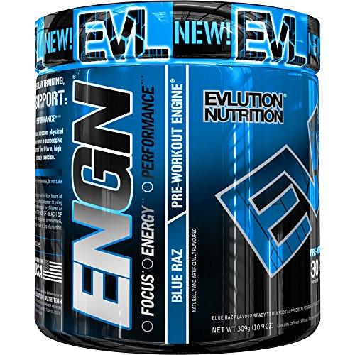 Evlution Nutrition ENGN   Suplemento En Polvo Pre Entreno Con Creatina Vitaminas Cafeína   Contiene 30 Dosificaciones   Sabor Frambuesa Azul