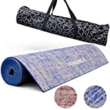 POVUMGA Yoga Mat Blue Exercise Mat With Carry - Best Reviews Guide