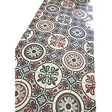 Tappeto cucina a metraggio PVC largo 50 cm marmette ( grigio rosso)