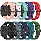 QGHXO Band for Amazfit GTS, Soft Silicone Replacement Watch Band for Huami Amazfit GTS/Amazfit GTR 42mm / Amazfit Bip/Amazfit