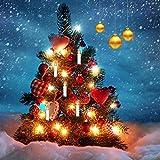 Jingrong Weinachten LED Kerzen Weihnachtskerzen Weihnachtsbaum Kerzen mit Fernbedienung Kabellos,Weihnachtsbaum, Weihnachtsdeko, Hochzeit, Geburtstags, Party,Weiss, 30er (Batterie nicht enthalten)