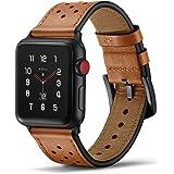 Tasikar Klockrem kompatibel med Apple Watch remmar 38 mm 40 mm 42 mm 44 mm premium äkta läder iWatch-rem kompatibel med Apple
