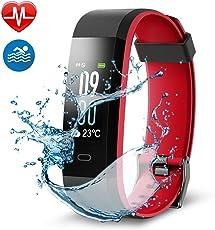 Navtour fitness tracker Wristband attività fitness tracker, colorato Screen fitness tracker, Activity Tracker con cardiofrequenzimetro, IP67impermeabile contapassi con allarme/calorie/monitoraggio del sonno, per Android e iOS