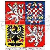 Insignia cimera del Escudo de Armas de la República Checa, Pegatina de 100mm para parachoques, calcomanía