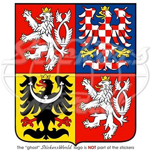 Tschechische Republik Wappen Abzeichen Wappen 100mm (10,2cm) Vinyl Bumper Aufkleber, Aufkleber -