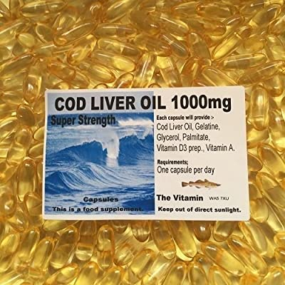 The Vitamin COD LIVER OIL SuperStrength 1000mg 90 Capsules ( L) by The Vitamin