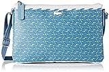 Lacoste NF1974CX, Bolso Bandolera para Mujer, Azul Croc (Blue Croc), 17.5 x 1 x 27 cm