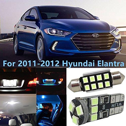 WLJH 9pcsGlace bleue Canbus Erreur Auto Led Lumières Kits Accessoire Intérieur pour 2011 2012 Elantra Plaque D'immatriculation Tronc Dome Carte Lumières Lampe-2Yr Garantie