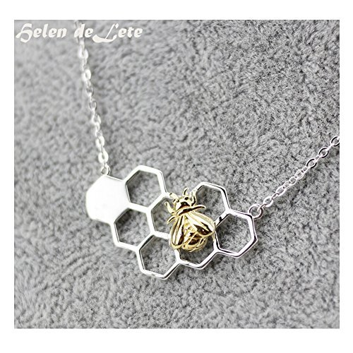 hi-summer-innovador-abejas-de-miel-plata-de-ley-collar