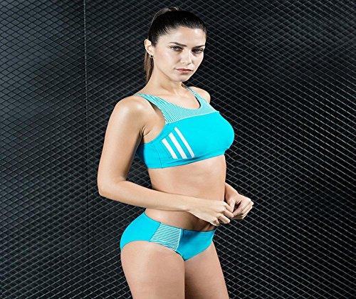 Frauen Sport Schwimmen Kostüm 2Piece Bikini Badeanzug Bademode und Sportswear 3 Farbe A