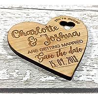 Personalised Wedding Invitation Cards Fridge Magnets - Personalised Save The Date Wedding Cards Invites Invitations FREE Envelopes