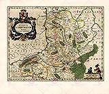 Large Posters MAP ANTIQUE BLAEU THEATRE DU MONDE LIMBURG