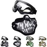 Fansport Tactical Airsoft Mask, Tattica Maschere Maschere Airsoft Airsoft BBS Airsoft Mesh Mask Maschere tattiche Mezze…