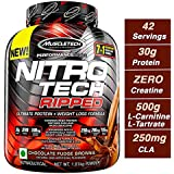 Muscle Tech Performance Series Nitrotech Ripped (Pre & Post-Workout, 30G Protein, 0 Creatine, 250G Cla, 200Mg C. Canephora Robusta) – 4 Lbs (1. 81 Kg) (Chocolate Fudge Brownie)