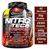 Muscle Tech Performance Series Nitrotech Ripped (Pre & Post-Workout, 30G Protein, 0 Creatine, 250G Cla, 200Mg C. Canephora Robusta) - 4 Lbs (1. 81 Kg) (Chocolate Fudge Brownie)