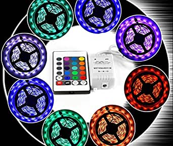amiciKart 5050 RGB LED Strip Light For House Party and Decorations Diwali Light Special Non Waterproof