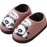 Peluche Pantofole Donne Uomo Caldo Carine Panda Pantofole Inverno Autunno Bambine Interni Antiscivolo Scarpe di Slipper per R