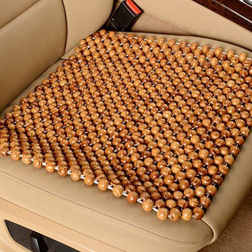 Preisvergleich Produktbild QIHANGCHEPIN Natürliche hölzerne Korn-kühle bequeme Kissen,  Auto-Holz-Kissen-bequeme Massage-kühlende Sommer-Kissen verwendbar für Auto,  Haus,  Büro,  Paket 1 45cm * 45cm (braun,  beige Brown) ( Farbe : Meter brown )