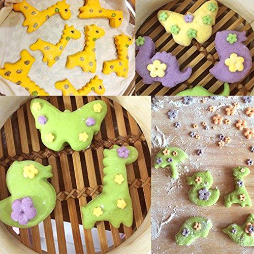 COKOSIM Keks Frucht Cutter Formen Set Mini Ausstechformen Plätzchen Ausstecher, Gemüseschneider Form für Kinder (12 Stück(Tier)) - 2
