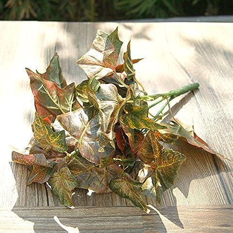 Fiori artificiali ShiQi vero tocco Fake Flower Green Maple Leaf Ristorante Cinese fiori di plastica Festival Home Giardino decorazioni per matrimoni cioccolato