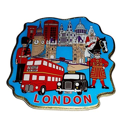 # 1Collectible London Icons Collectible UK Metall-, geformt Magnet Souvenir. Souvenir/Speicher/MEMORIA. spezielle, Einzigartige British UK Collectible Magnet. Hier ist eine unvergessliche London Souvenir. Aimant/Magnet/Magnete/ImÁn. (Sammlung Gespräch Stück)