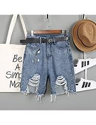 WHTLL-Pantalons En Denim Pour Dames Cinq Trous De Trous Irréguliers D'Été Sont Des Shorts Taillés Aux Mendiants