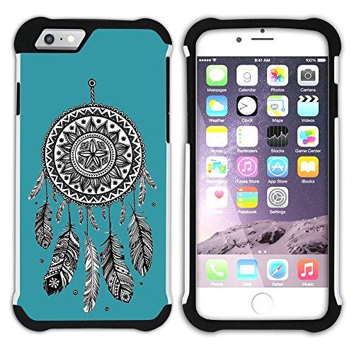Graphic4You Traumfänger (Wasserblau) Hart + Weiche Kratzfeste Hülle Case Schale Tasche Schutzhülle für Apple iPhone 6 Plus / 6S Plus Türkis