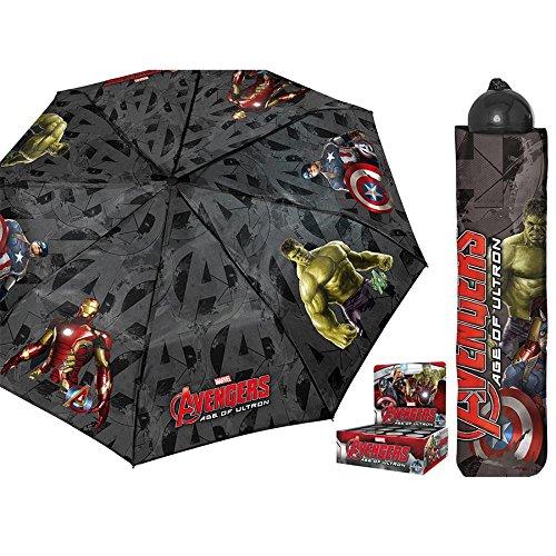 Marvel The Avengers Regenschirm faltbar mit Schutztasche (Nova Mit Groot)