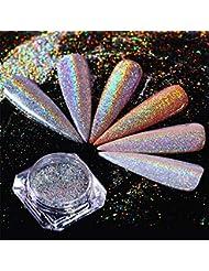 Born Pretty 0.5g Holographic Laser Powder Rainbow Nail Art Pigment Super Shine Manicure Glitter