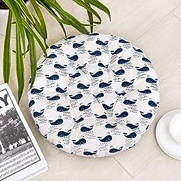 HomeMiYN Coussin de chaise rond doux et durable, Vaisselle, 50*50cm (19.5″*19.5″)