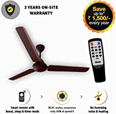 Gorilla Energy Saving 5 Star Rated 1400 Mm Ceiling Fan With Remote Control And Bldc Motor- Matte Brown