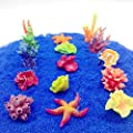 Vektenxi Premium Qualität Weiche Künstliche Korallen Seestern Pflanzen Unterwasser Ornament für Aquarium