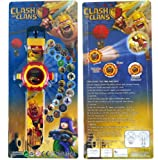 #6: JINKRYMEN Clash-Of-Clans-Kids-Watch-with-Projector-Displays-24-Images
