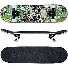 FunTomia Skateboard mit MACH1 Kugellager und Rillen-Profil Rollen