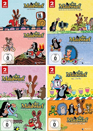 Der kleine Maulwurf - 8 DVD Set (4x2 DVDs) im Set - Deutsche Originalware [8 DVDs] (Anime-filme-set)